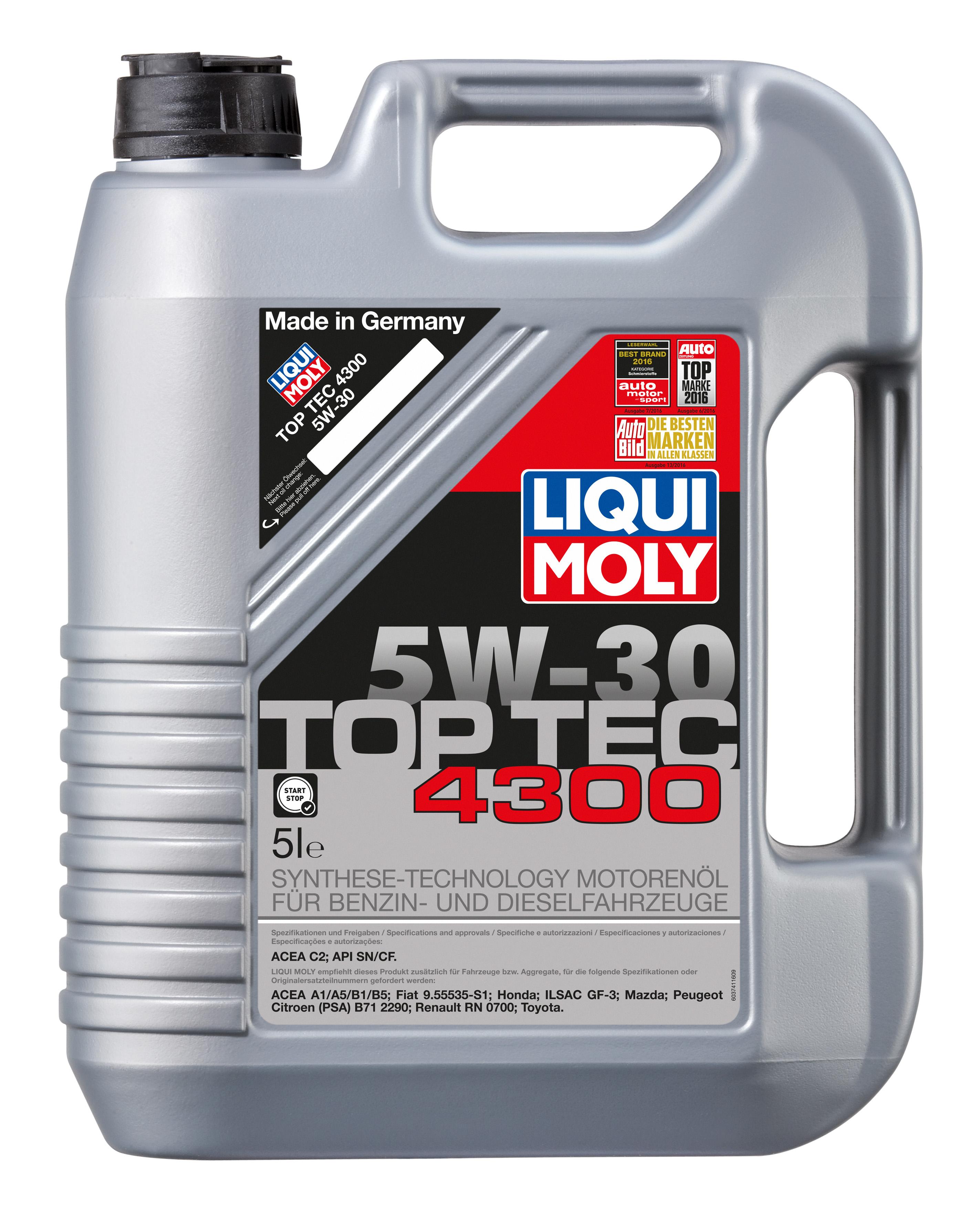 НС-синтетическое моторное масло Top Tec 4300 5W-30