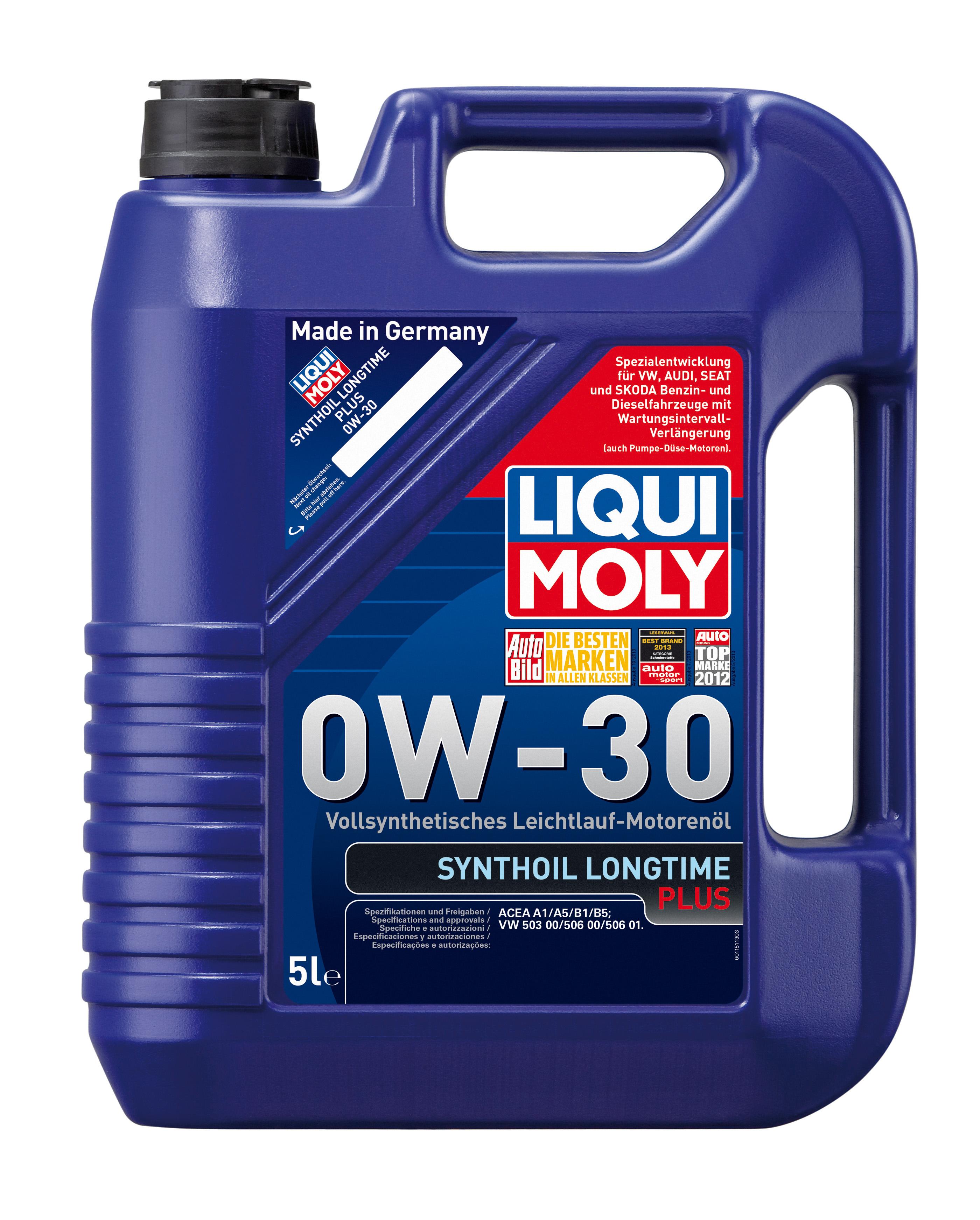 Синтетическое моторное масло Synthoil Longtime Plus 0W-30
