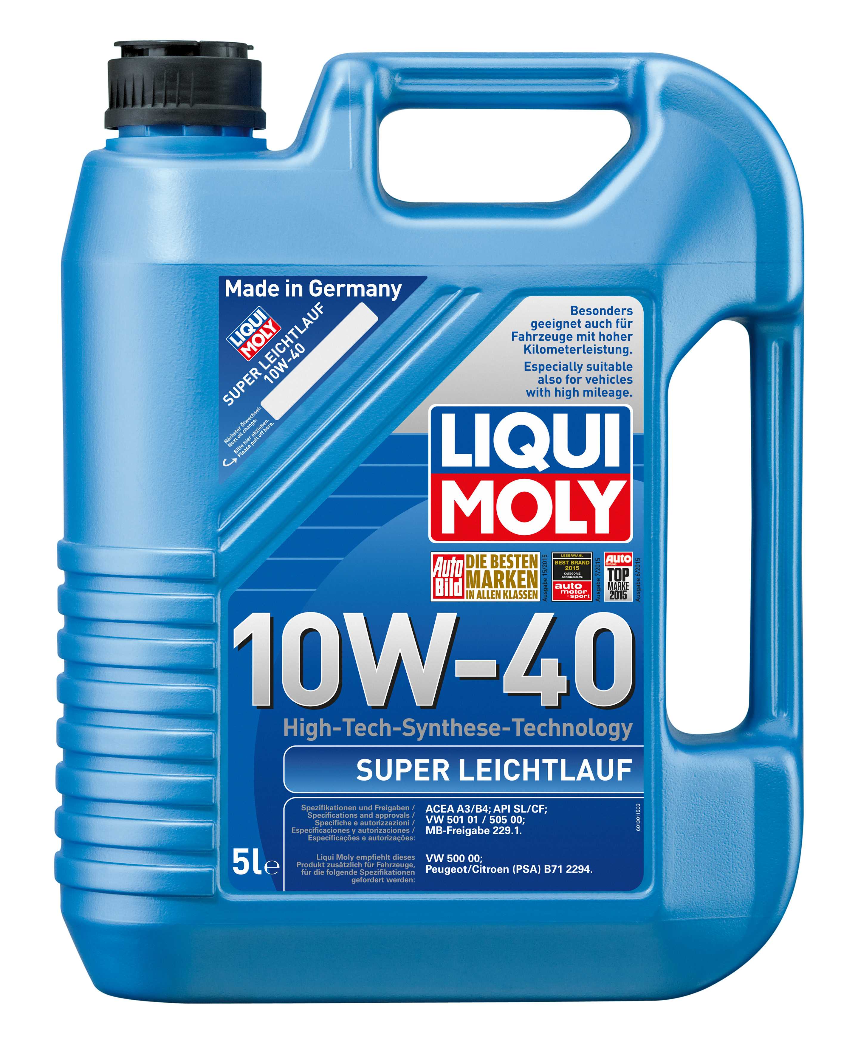 НС-синтетическое моторное масло Super Leichtlauf 10W-40