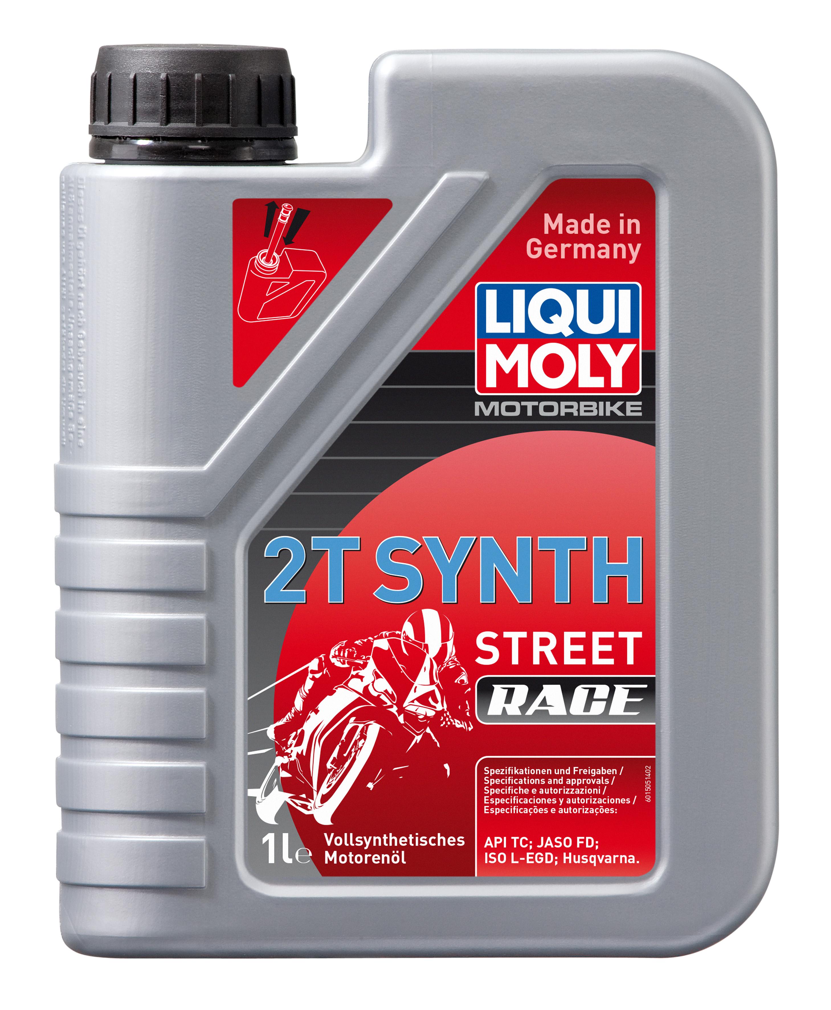 Синтетическое моторное масло для 2-тактных мотоциклов Motorbike 2T Synth Street Race
