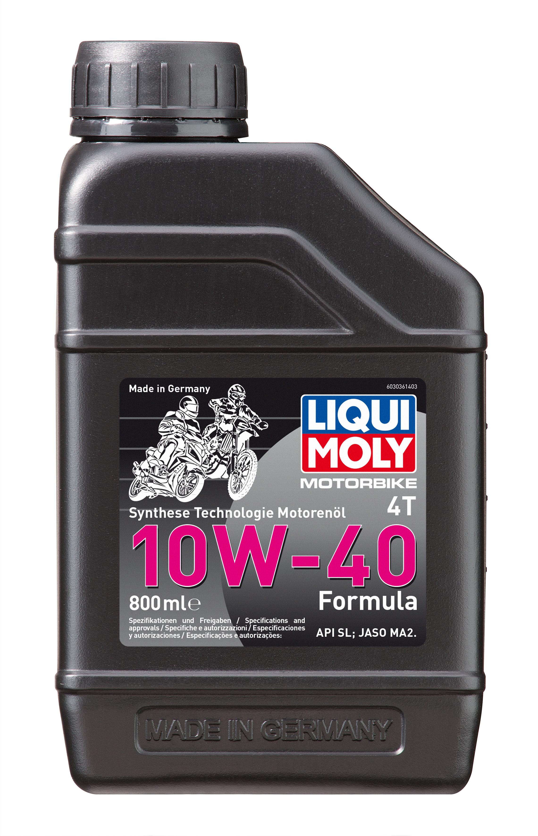 НС-синтетическое моторное масло для 4-тактных мотоциклов Motorbike 4T Formula 10W-40